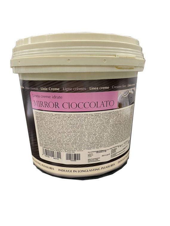 შავი შოკოლადის სარკისებრი მინანქარი